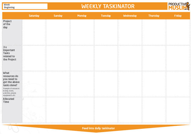 The Weekly Taskinator
