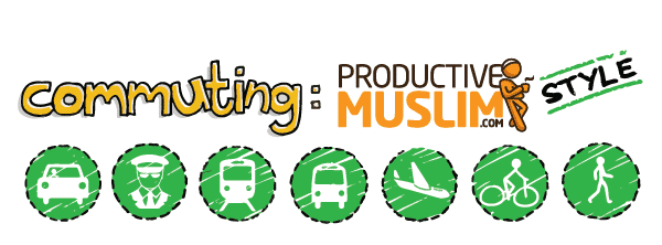 Doodle of the Month [May]: Commuting ProductiveMuslim Style | ProductiveMuslim