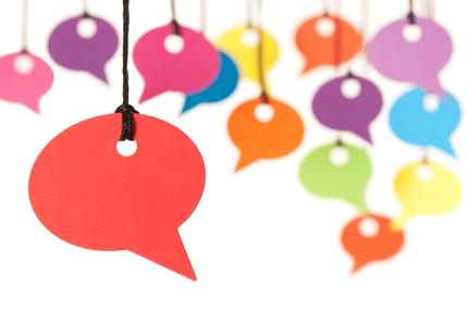 large speech bubbles istock