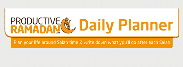 Productive Ramadan Daily Planner | ProductiveMuslim