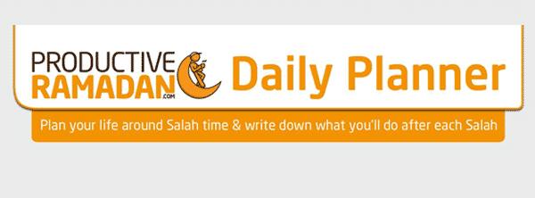 Productive Ramadan Daily Planner | ProductiveMuslim