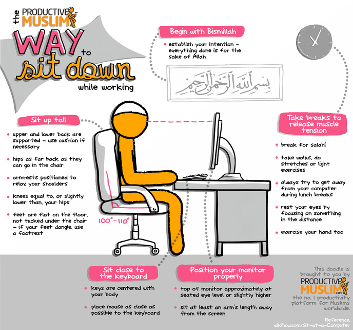 [October Doodle] Productive Muslim Way to Sit Down