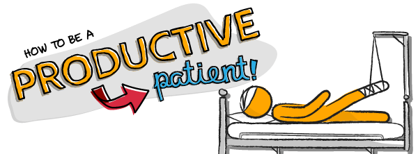 Doodle of the Month: How to Be a Productive Patient | ProductiveMuslim