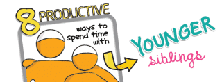 [January Doodle] 8 Productive Ways to Spend Time with Younger Siblings