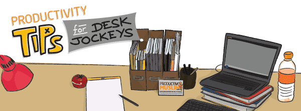 [Doodle of the Month] Productivity Tips for Desk Jockeys | ProductiveMuslim