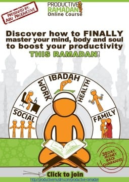 Productive Ramadan Online Course Poster