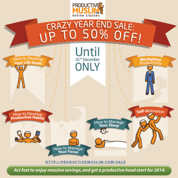 ProductiveMuslim End of Year Sale Poster