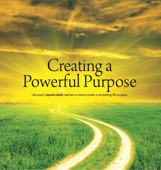 Creating A Powerful Purpose   Productive Muslim