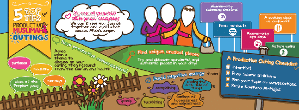 [Doodle of the Month] 5 Top Tips for Productive Muslimah Outings | ProductiveMuslim