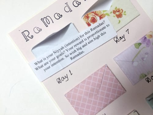 ProductiveMuslim DIY Ramadan Weekly Reminders Card