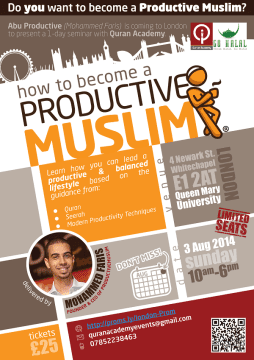 ProductiveMuslim London Seminar Aug