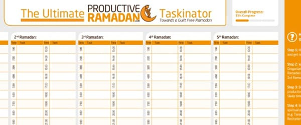 The Ultimate Ramadan Tools Review: Worksheets, Planners, Apps and Doodles! | ProductiveMuslim