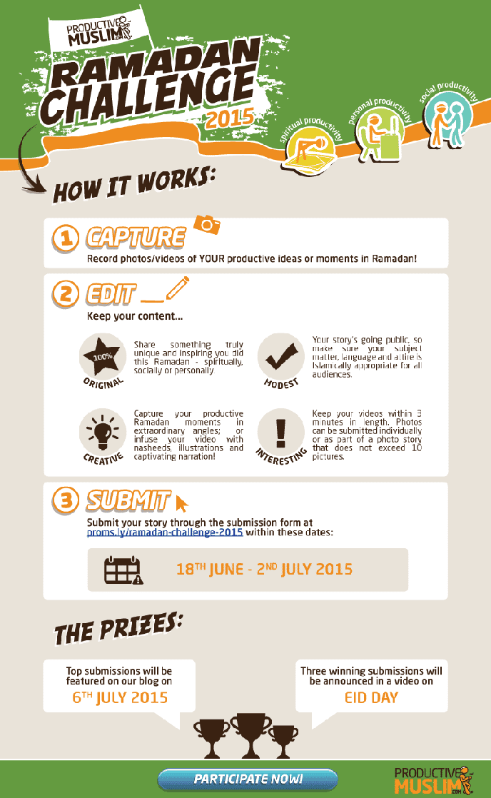 The ProductiveMuslim Ramadan Challenge 2015: Capture, Edit and Submit! |ProductiveMuslim