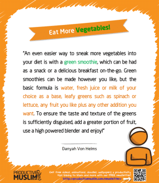 Eat More Vegetables | Inspirational Islamic Quotes on Productivity | Productive Muslim