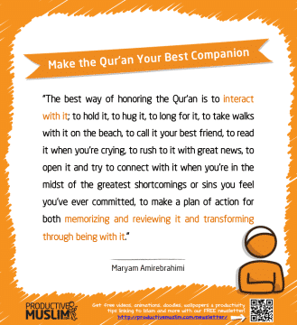 Make the Qur'an Your Best Companion | Inspirational Islamic Quotes on Productivity | Productive Muslim