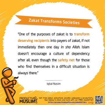 Zakat Transforms Societies | Inspirational Islamic Quotes on Productivity | Productive Muslim