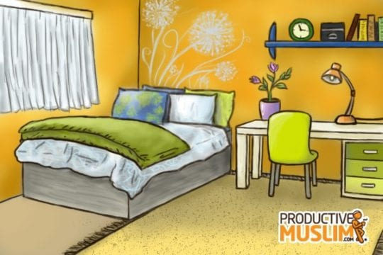 How I Made Productive Use of My Spare Bedroom | ProductiveMuslim