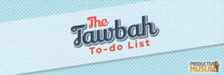 [Doodle of the Month] ​Your Tawbah To-Do List: Action Points for a Fresh Start